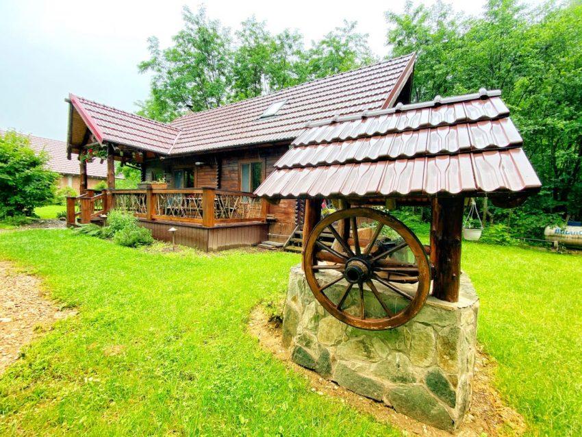 night mountain cabin